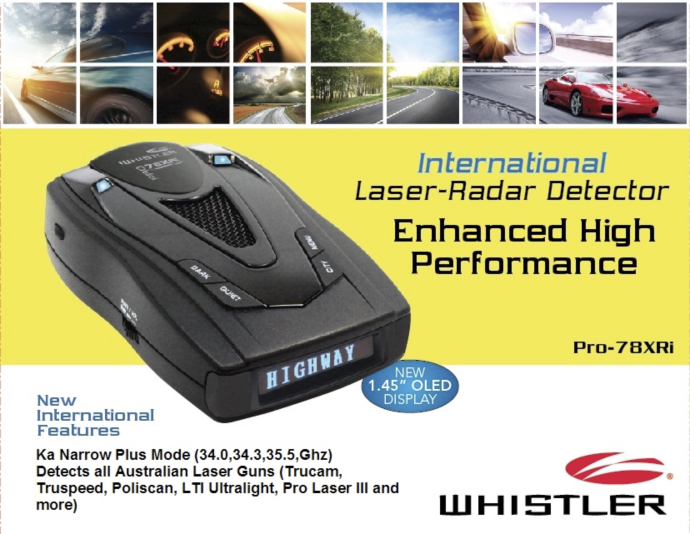 Buy Whistler Pro 78XRi in Australia.