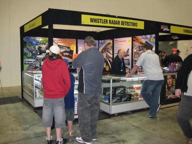 Radar Detectors Australia - Auto Salon car exhibition.