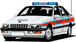 Police Car with radar gun fitted/