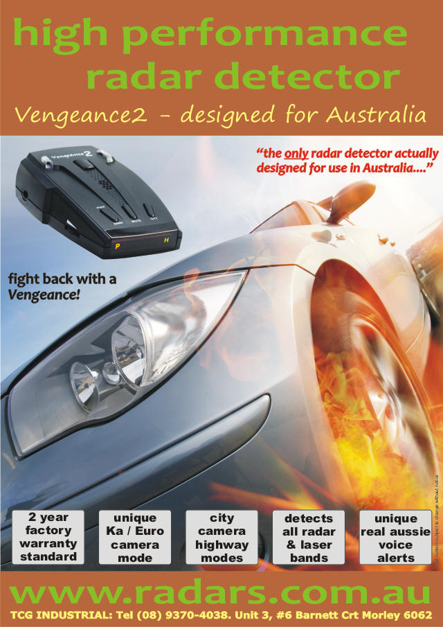 Vengeance2 radar detectors For Australia.