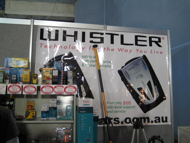 Merchandise Display: Whistler radardetector banners.